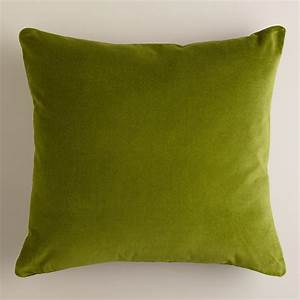 Calla green velvet throw pillows world market for Throw pillows green