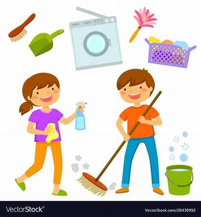 Cleaning Vector Happy Royalty Vectors