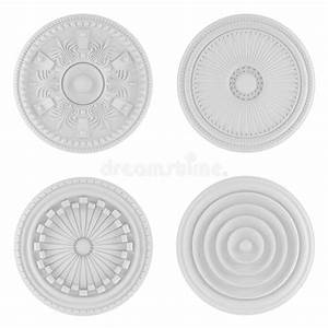 Classical Architecture Elements. Ceiling Plates Stock ...