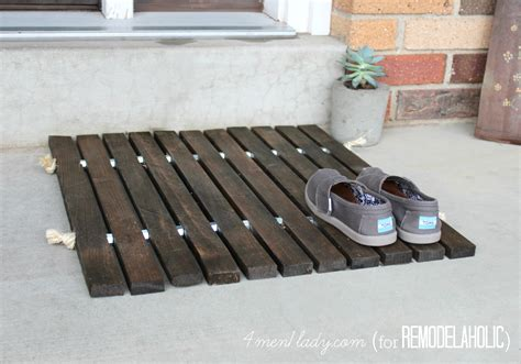 wood projects for home remodelaholic diy wood stake door mat Diy