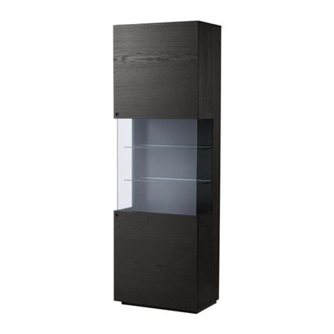 Dining Room Display Cabinets Ikea by Vittsj 214 Storage Combination Black Brown Glass Cabinet