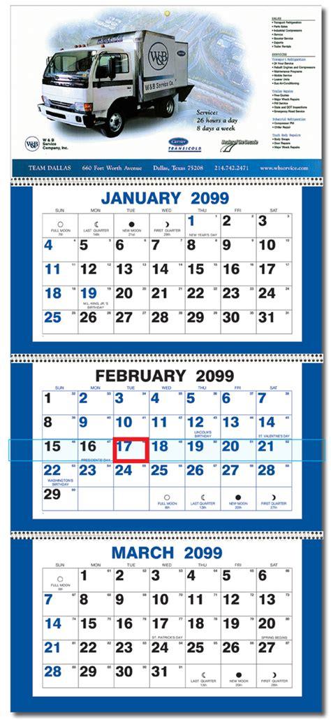 month panel calendar calendar company