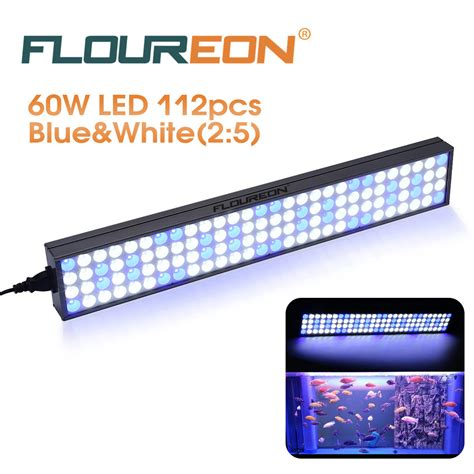 25 inch 60w freshwater saltwater blue white led grow