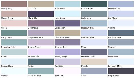 pratt  lambert colors house paint color chart chip