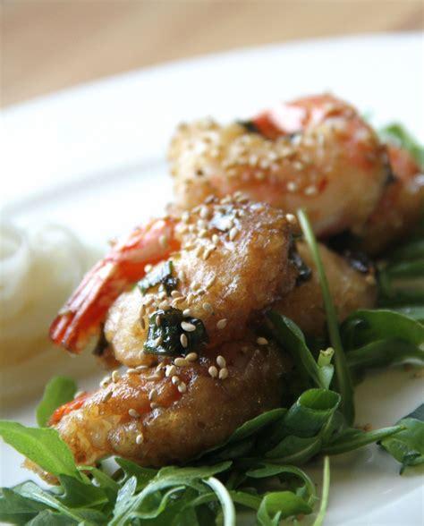 cuisine miel crevettes aux oignons de printemps et au miel blogs de