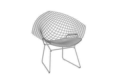 chaises bertoia bertoia chair with cushion knoll milia shop