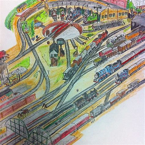 thomas the tank engine tidmouth sheds and yard by