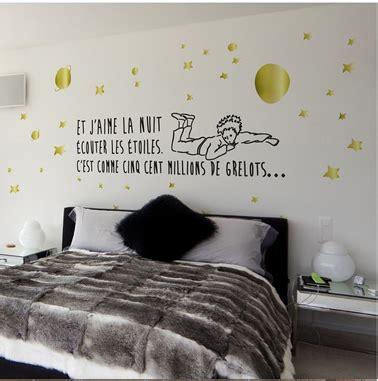 stickers phrase chambre bébé stickers le petit prince de st exupéry pour chambre et