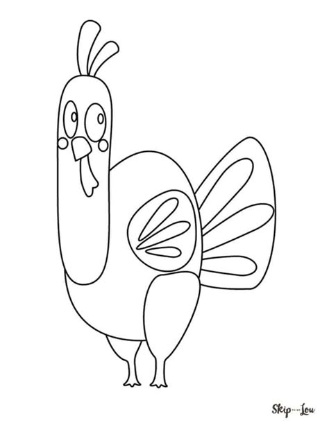 Turkey Coloring Sheet by The Cutest Free Turkey Coloring Pages Skip To My Lou