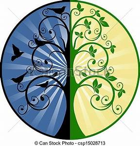 Vector Clip Art of Tree of Life and Death csp15028713 ...