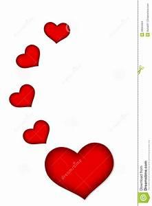 Beau Coeur Rouge Sur Un Fond Blanc Images stock Image