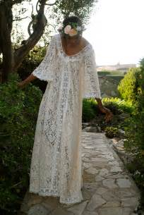 boho brautkleid annabel lace caftan dress dreamers and