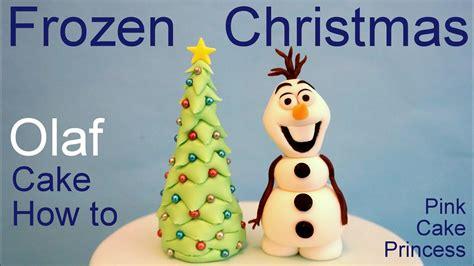 frozen olaf christmas tree cake    olaf cake