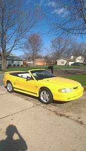 4th gen yellow 1998 Ford Mustang GT convertible For Sale - MustangCarPlace