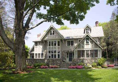 Eclectic Modern Tudor Exterior  Traditional  Exterior