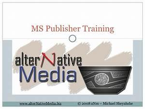 MS Publisher Training