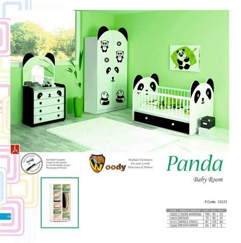 chambre panda panda chambre de bébé jeu avec commode garde robe