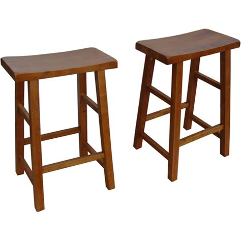 walnut counter stools mainstays saddle counter height stools 24 quot set of 2 3337