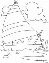 Coloring Yacht Pages Charter Bestcoloringpages Boat Hovercraft Popular Type Boats Christmas Easy Coloringhome sketch template