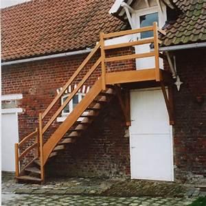 Escalier Extérieur En Bois : escalier bois ext rieur les ateliers du marais ~ Dailycaller-alerts.com Idées de Décoration