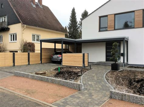 Moderne Häuser Mit Carport by Moderne Einzelcarports Im Individuellen Design Carporthaus