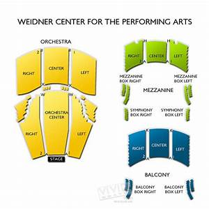 Vivid Seats Seating Chart Weidner Center For The Performing Arts Seating Chart