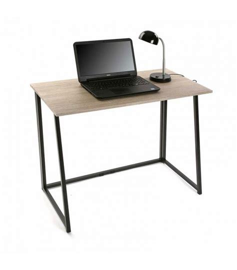 bureau bois et metal bureau simple en bois et métal noir wadiga com