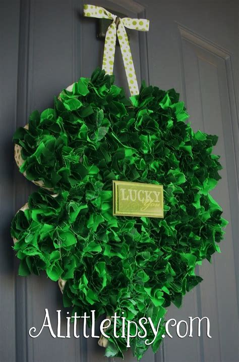 fabric shamrock wreath pictures   images
