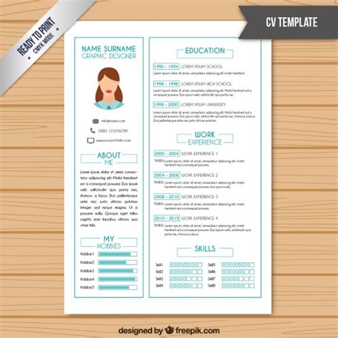 resume color or black and white resume template in white color with light blue details vector premium