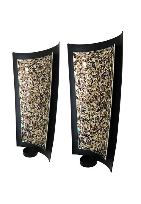 Collection Of Unique Wall Decor Candle Light Large by Buy Best Golden Sands 15 Inch Mosaic Wall Sconces Tealight