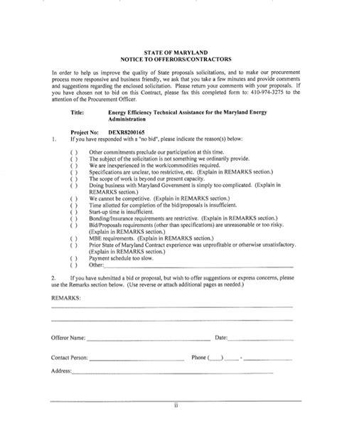 bid submission form template bid no bid decision making