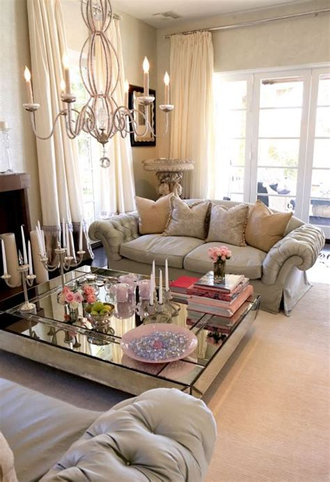 Beautiful And Romantic Check Out The Glam Living Room Of