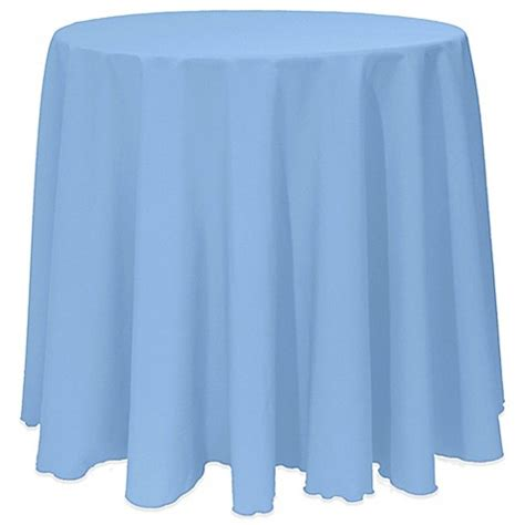 Light Blue Tablecloth by Buy Basic 120 Inch Tablecloth In Light Blue From Bed