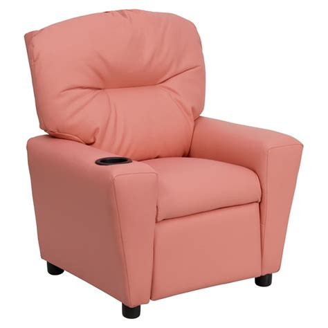 toddler recliner chair upholstered recliner chair cup holder pink dcg