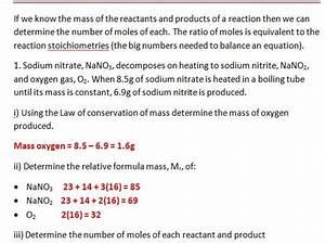Mole Ratios And Balancing Equations