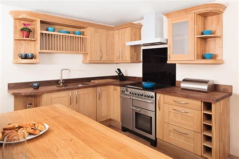 solid wood cabinets specialist solid oak kitchen cabinets in curved belfast