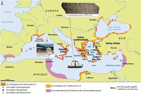 Carte Vierge Du Monde Des Cités Grecques by La Mythologie Grecque Lecture Et 233 Tude