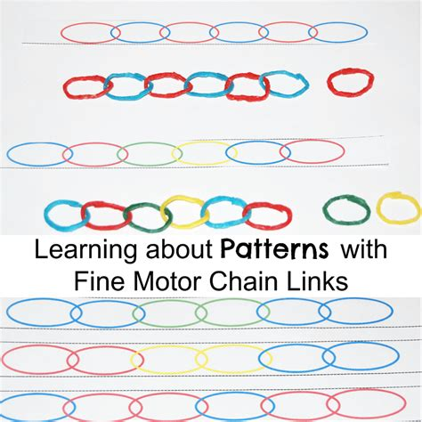 learning links preschool basic patterning skills with created motor chain 918