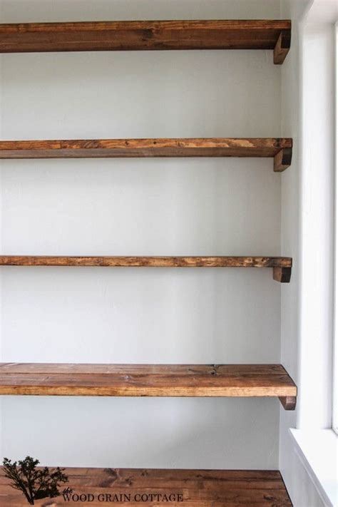 Wood Shelves by Diy Shelves 18 Diy Shelving Ideas Recipes To Cook