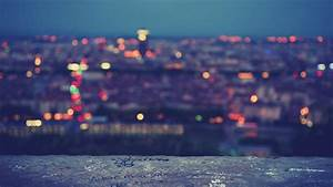 Blurred city lights wallpaperlayer