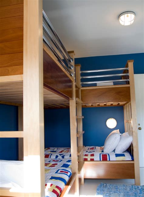 nautical bunk beds nautical double bunk beds contemporary kids boston by hart associates architects inc