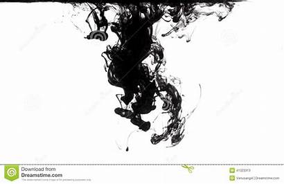 Ink Water Dissolving Clear Abstract