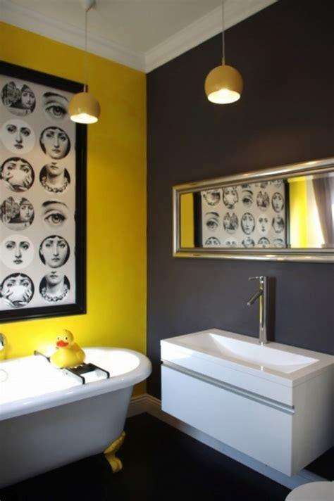 bright  sunny yellow ideas  perfect bathroom decoration