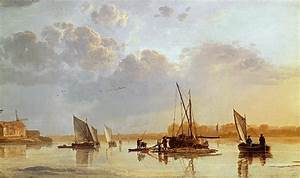 Boats On A River Painting by Aelbert Cuyp