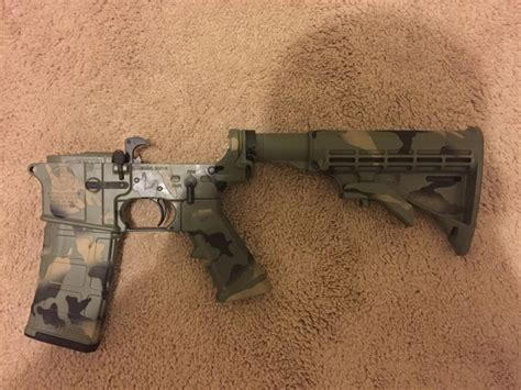 Smith & Wesson AR15... Dirty Tiger Stripe Woodland Camo ...