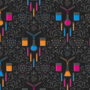Mad Science Damask Neon fabric robyriker Spoonflower