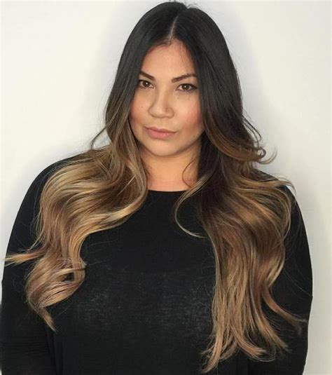 dark brown hair with light brown ombre 40 vivid ideas for black ombre hair