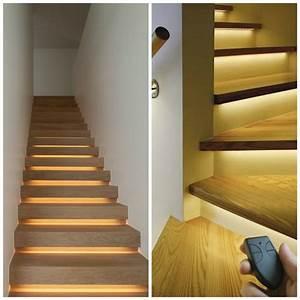 escalier interieur quelques idees d39eclairage moderne With eclairage marche escalier interieur