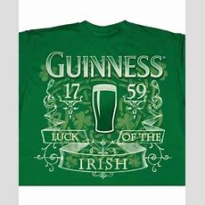 Luck Of The Irish Guinness Tshirt
