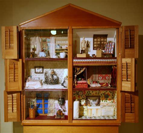 dollhouse dollhouse  wood  mixed media
